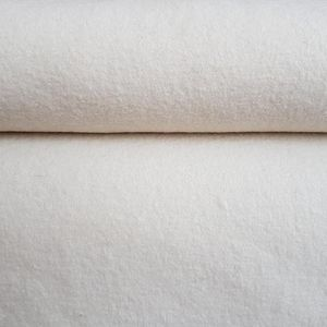 Euro Boiled Wool Fabric in Winter White